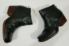 Kork Ease Black Leather Boots Women's Size 7  Ankle Booties