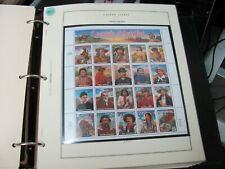 19845 UNITED STATES 1994 LEGENDS OF THE WEST #2869 FULL SHEET OF 29 CENTS STAMPS