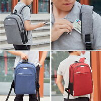 Women Men USB Anti-Theft Backpack Travel School Business Laptop Rucksack Bag SH