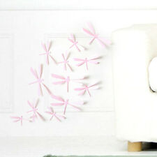 12pcs 3D DIY Decor Dragonfly Home Party Classroom Wall Stickers Art Decal  #Pink