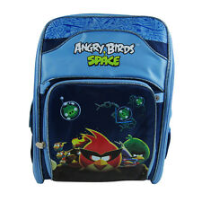 Brand New Angry Birds Space Blue School Bag Backpack Back Pack 360-Degree