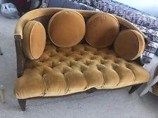 Vintage faux bamboo Cane Barrel Back Loveseat