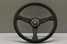 NARDI CLASSIC LEATHER STEERING WHEEL BLACK SPOKES HORN BUTTON 390MM 6061.39.2001