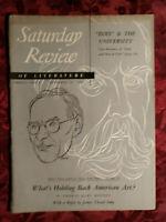 SATURDAY REVIEW December 15 1951 MERLO PUSEY THOMAS HART BENTON SELDEN RODMAN