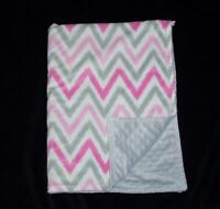 Target Circo Chevron Zig Zag Pink Grey White Minky Bumpy Dot Baby Blanket
