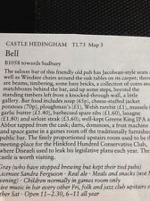 m1-3 ephemera 1984 pub article The Pub Bell Castle Hedingham