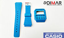 VINTAGE CASIO CASE AND BAND J-100 AZUL NOS