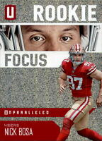 NICK BOSA 2019 PANINI UNPARALLELED ROOKIE FOCUS ROOKIE #RF-NB 49ers RC