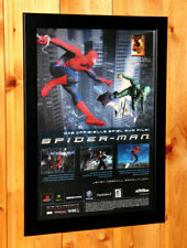 2002 Spider-Man video game Small Poster / Old Ad Page Framed Xbox Gamecube PS2.
