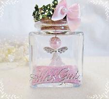 1 Weiss-Rosa-Schutzengel im Glas ,Alles Gute,Geburtstag,Hochzeit,Geburt,Taufe,
