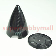 "2.5""/63.5mm Carbon Fiber Cone Prop Spinner with Two blade For Gas RC plane"