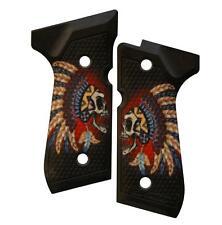 Custom Beretta 92 96 M9 Grips Ambidextrous Warrior Skull Cherokee Tribe