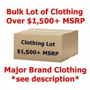 $1,500+ Bulk Wholesale Lot Men's/Women's Clothing - Major Designer Brand Names