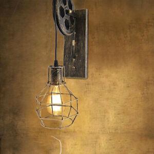 Outdoor Garden Wall Light Lantern Coach Lighting Lifting Pulley Vintage Lamp