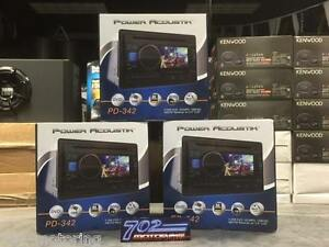 """POWER ACOUSTIK DOUBLE DIN PD-342 CD/DVD/MP3 PLAYER 3.4"""" LCD USB AUX 300 WATTS"""