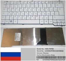 Clavier Qwerty Russe Amilo SA-3650 SA3650 PA3515NSK-F3P0R 9J.N0N82.P0R Blanc