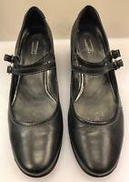 ECCO Women 42 EU US Mary Janes Pumps Shoes Heels Black Leather Comfort Shoes