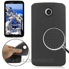 Flexible Matte Back Dot TPU RUBBER CASE COVER ARMOR For Motorola Nexus 6 w/Film