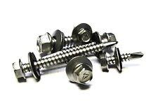 (500) 10x3/4 Stainless Steel TEK Sheet Metal Screws w/ Neoprene Sealing Washer