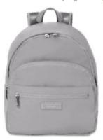 Kipling NWT $149 Chesney Medium Backpack Slate Grey Book Bag Tech Padding