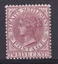 DB327) Straits Settlements 1883 12 Brown - Purple SG 67