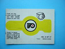 1973/74 O-PEE-CHEE RING INSERT LOGO HOCKEY CARD 9 PHILADELPHIA FLYERS EX- OPC