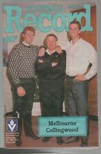 Football Record MELBOURNE v West COLLINGWOOD 1987  Demons win Rob Flower 6 goals