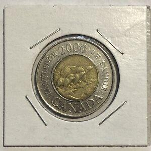 2000 Polar Bear Canada $2 Dollars Knowledge Toonie - Circulated