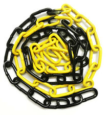 6mm x 42mm Epoxy Coated Steel Welded Barrier Chain in Alternate Yellow/Black