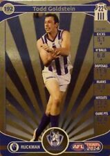 2014 afl TEAMCOACH GOLD NORTH MELBOURNE TODD GOLDSTEIN #192 CARD FREE POST