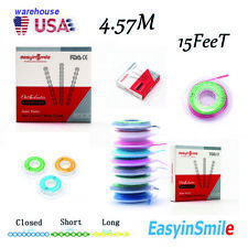 Dental Orthodontic Elastic Rubber Continuous Type Strength Short Power Chains