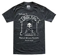 Suicide Squad Welcome to Belle Reve Black/Charcoal Heather Men's T-Shirt New