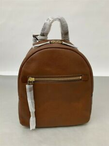 Fossil Women's Megan Leather Backpack - Brown (ZB7693200)