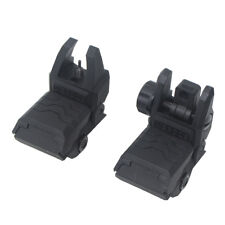 Tactical QD Flip Up Front Rear Sight Adjustable Black for Worker Rail Modify Toy