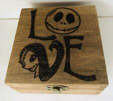 Personalised Jewellery Memory Box 12cm Nightmare Before Christmas Skull Keepsake