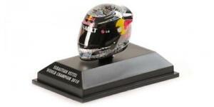 Casco Helmet Arai Vettel Gp Abu Dhabi WC F1 2010 Minichamps 1:8 381100105 Model