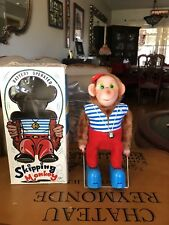 VINTAGE NOMURA JAPAN SKIPPING MONKEY BATTERY OPERATED TOY W/ ORIGINAL BOX NOS