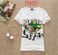 Womens Rubik Life  T-shirt Top summer hip hop size M