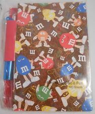 Studio 18 M&M's Scattered Characters Mini Memo Pad & Pen NEW 100 Sheets MM MandM