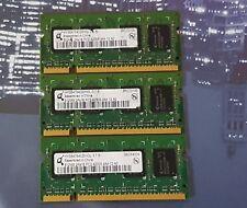 3X Infineon 512MB DDR2-533 PC-4200 SODIMM Memory HYS64T64020HDL-37-B (1.5GB)