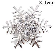 Fashion Snowflake Diamante Brooch Rhinestone Crystal Brooch Pin Xmas Gift