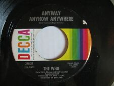 The Who - Anyway Anyhow Anywhere / Anytime You Want Me 45 Decca