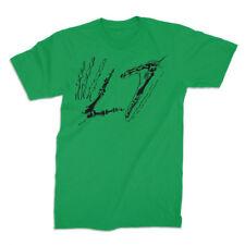 L7-Skeleton Hands Logo-Large Green T-shirt