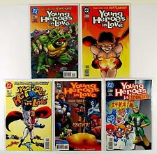 YOUNG HEROES IN LOVE DC LOT OF 5 COMICS #10 11 12 13 14 (VF/NM)