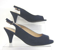 Anne Michelle F10591 Ladies Navy Slingback Shoes UK3-7 Standard fit (R27B)