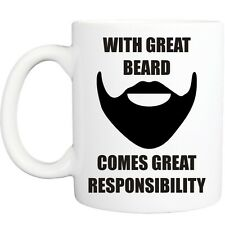 GREAT BEARD MUG funny novelty tea coffee gift womens mens office gifts christmas