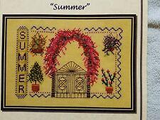 Turquoise Graphics & Designs Cross Stitch Chart Summer