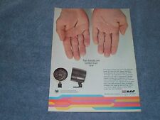 """1974 RAC Tach Vintage Ad """"Two Hands Are Better Than One"""""""