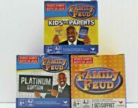 Family Feud Boxed Card Games Original/Platinum Edition/Kids V. Parents Lot of 3