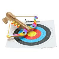 Spielzeug Sportarmbrust Holz Armbrust Zielscheibe Pfeilen Kinder Spiel Spass